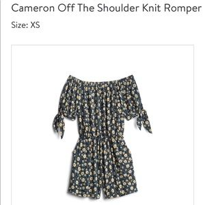 Kaileigh-  Cameron off the shoulder knit romper